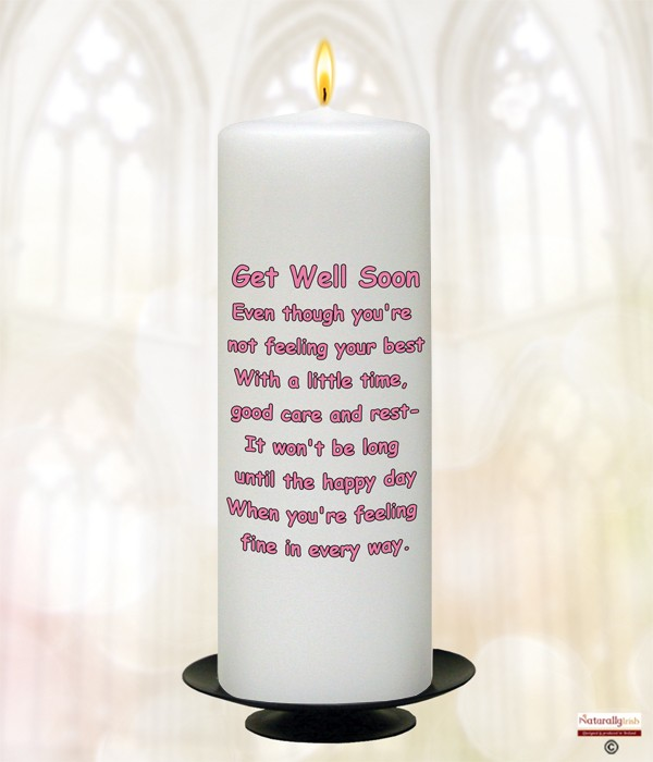 Teddy Amp Hot Water Bottle Get Well Soon Candle 187 Naturally