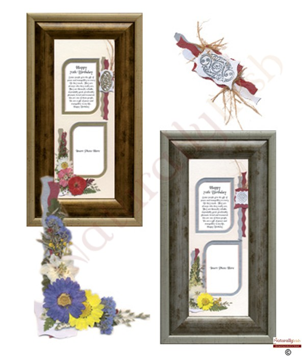 70Th Birthday Verses http://www.naturallyirishcandles.com/products/874651_happy_70th_birthday_10x4_verse_photo_frame.php