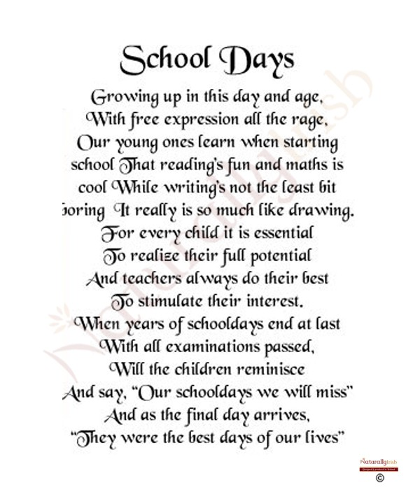 Schools Out Poem Poems About School Days