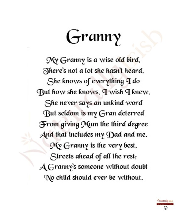 Poems About Granny 80