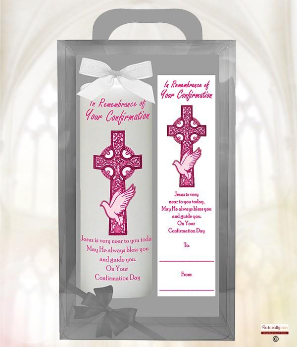 Naturally Irish Confirmation Celtic Cross Amp Dove Pink