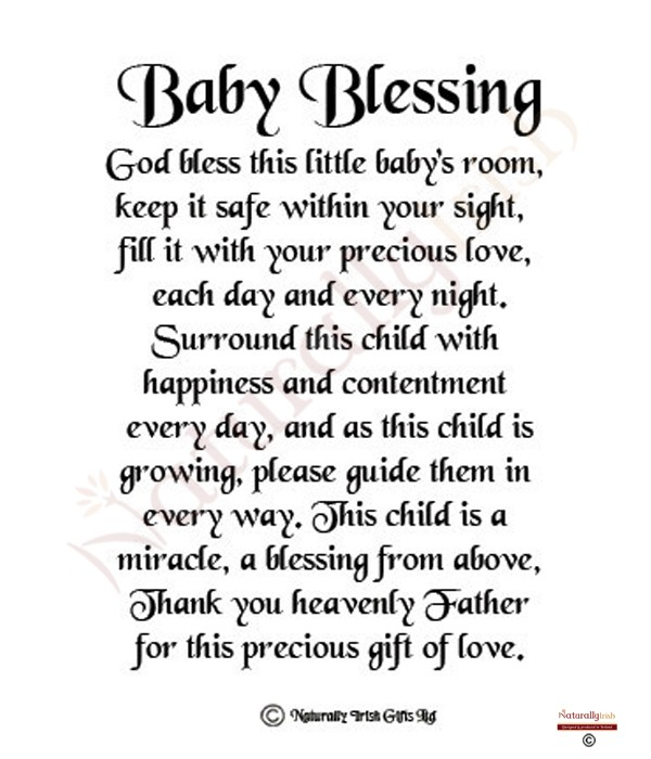 baby blessing quote - photo #11