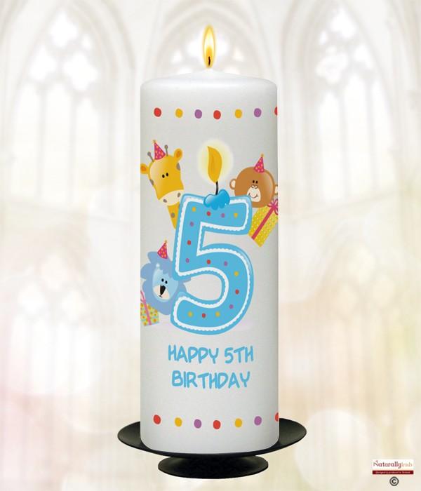 Naturally Irish Birthday Party Animal Age 5 Candle