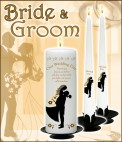 Bride & Groom Wedding Candles