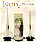 Wedding Candles Ivory
