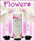 Flower Wedding Candles