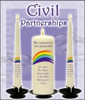 Civil Partnership Candles NaturallyIrish.ie Tel: 045 837783