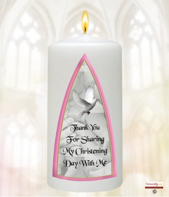 Irish Baby Blessing Pink Christening Favour (White