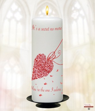 Rose Heart Frame Love Candle