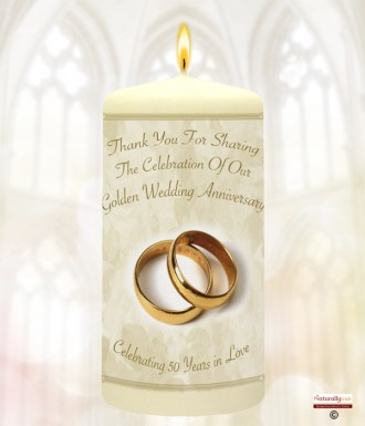 Naturally Irish 50th Wedding Anniversary Favour Gold Rings 918447