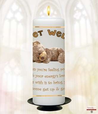 Teddy Remedy Get Well Soon Personalised Candle