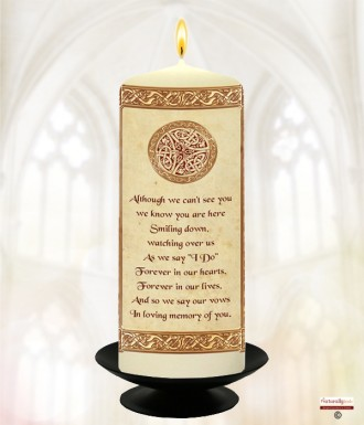 Celtic Gold Wedding Remembrance Candle