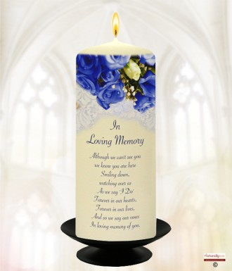 Navy Rose Navy Wedding Remembrance Candle