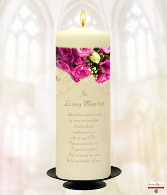 Cerise Rose Gold Wedding Remembrance Candle
