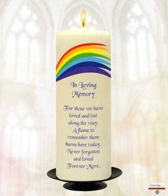 Rainbow Flair Wedding Remembrance Candle » Naturally Irish