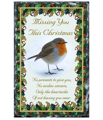 naturally irish robin xmas remembrance missing you slate slate 994441 naturally irish