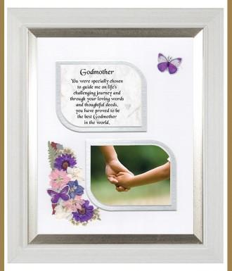 Naturally Irish - Thank You Godmother, Cross & Flowers Verse & Photo ...