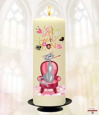 Lucky Cat Get Well Soon Personalised Candle
