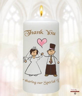 Happy Ever After Wedding Favour Candles