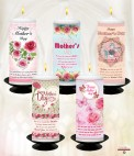 Personalised Mothers Day Candles