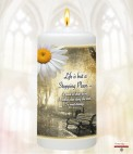Bench & Flower Memorial Favour (White/Ivory)