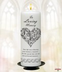 Rose Frame and Photo Wedding Remembrance Candle