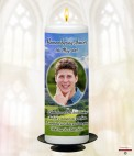 Beach and Photo Memorial Candle (white/ivory)