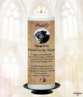 Cloud Sunset Memorial Candle (white/ivory)