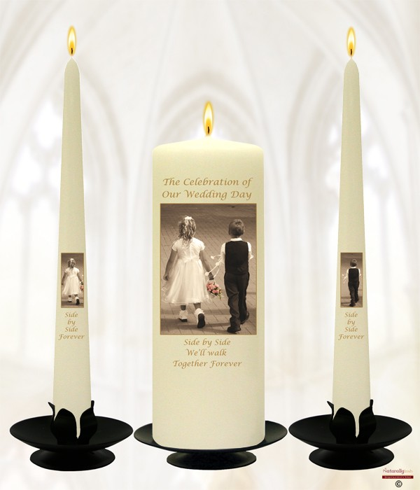 Young Love Gold Wedding Candles