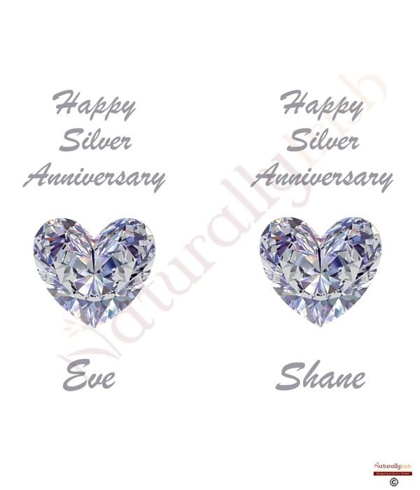 ... Heart Gem Happy Silver Wedding Anniversary CandlesNaturally Irish