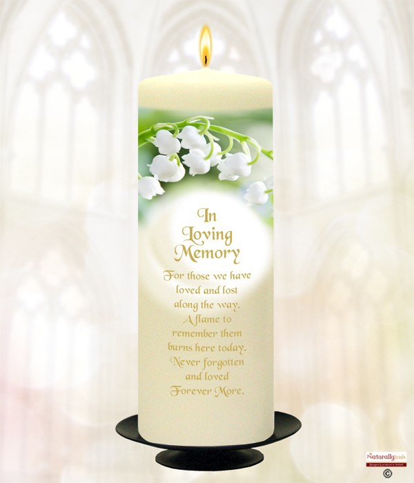 Lily of the Valley Gold Wedding Remembrance Candle