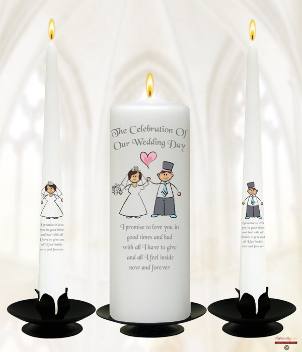 Happy Ever After Wedding Candles
