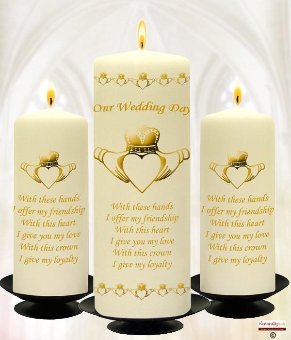 Wedding Gift Registry Ireland: Wedding Candle Set » Naturally Irish