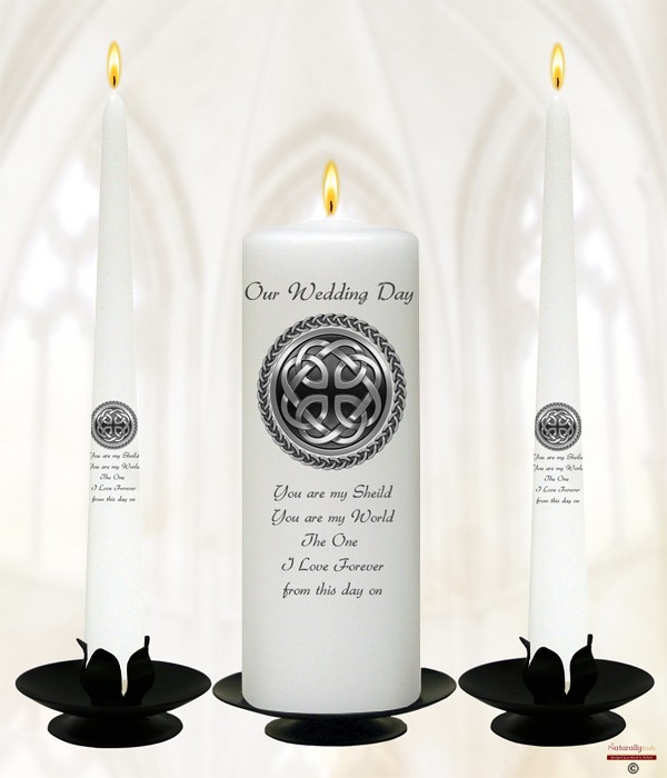 Celtic Sheild Wedding Candles