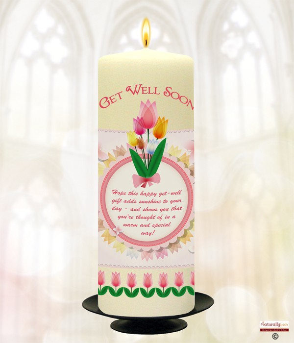 Tulips Get Well Soon Candle